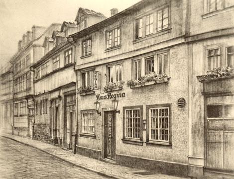 Pension Regina in Gotha in früheren Zeiten
