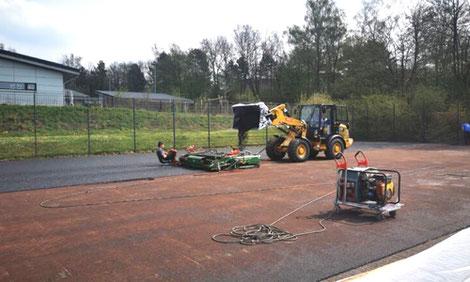 Das Kleinspielfeld an der Gruitener Straße erhält einen neuen Kunststoffbelag. (Foto: Kreisstadt Mettmann)