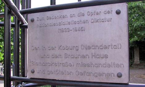 Das Koburg-Mahnmal erinnert an die Opfer des Nationalsozialismus. (Archivfoto: Kreisstadt Mettmann)