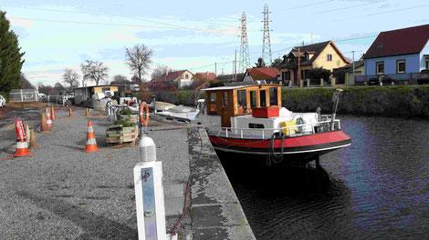 Unser Stellplatz am Hafen von Colmar