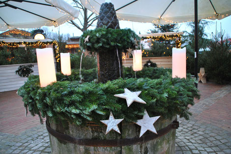Adventsbrunnen in der Saunalnschaft des H2O  ©H2O Herford