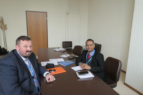Спецдокладчик ООН А. Шахид в ходе рабочей встречи с главой NGO Public Advocacy О. Денисовым