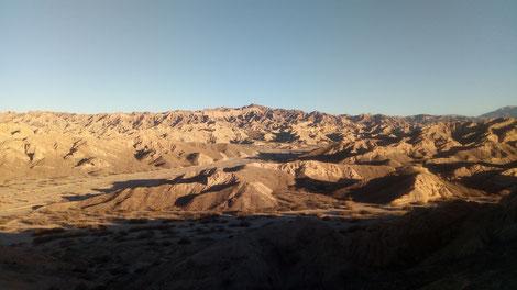 Paysage martien sur la boucle Sud de Salta en Argentine