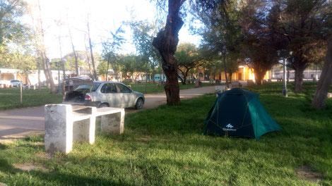 Camping de San Carlos, sur la boucle Sud de Salta en Argentine