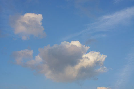 Wolkengedichte mit Harfe von lyrika