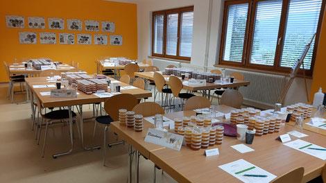 Dieser Tage fand an der Kärntner Imkerschule die sensorische Bewertung der Honige statt.