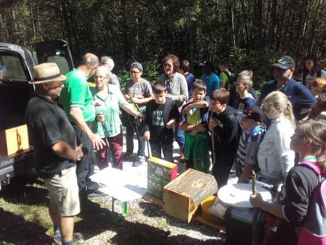Der BZV Eisenkappel bot ein umfassendes Programm, um Kindern die Welt der Bienen zu zeigen