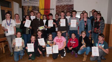 Der österreichische Jungimkerwettbewerb fand 2019 in Kärnten statt