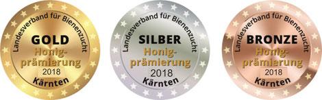 Honigprämierung 2018: Kärntner Honige erhalten Gold, Silber und Bronzemedaillen