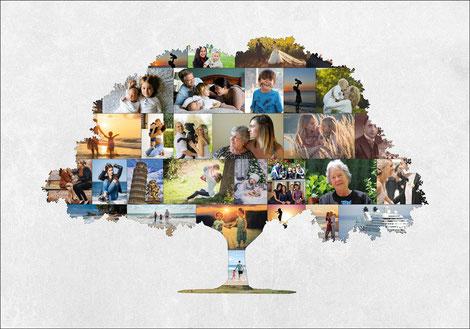 Idea regalo fotografico, Albero della vita con le tue foto, albero genealogico con le tue foto, regalo per anniversario