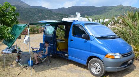 Auf dem Campingplatz S'Abba Druche