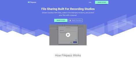 Filepass - File sharing for recording studios