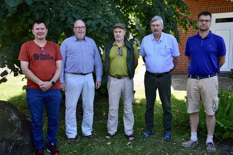 Der neue Vorstand des ÖJV-NB v. li. : Klaus Frischling, Gerhard Naujoks, Michael Littmann, Winfried Frölich und Marc Fleischer
