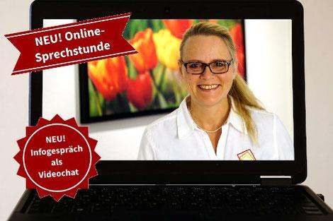 neuer Service: Online-Sprechstunde und Infogespräch per Videochat