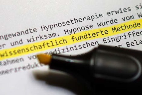 Hypnose ist eine wissenschaftlich fundierte Methode.