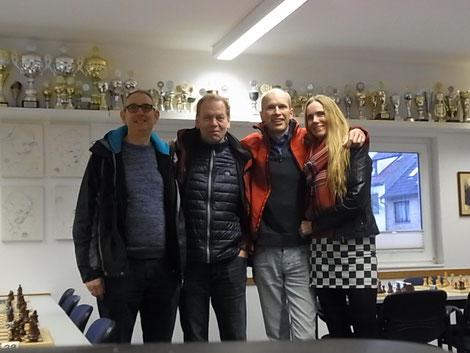 Die Volksdorfer Delegation bei den Hamburger Blitzeinzelmeisterschaften am 27.01.2019