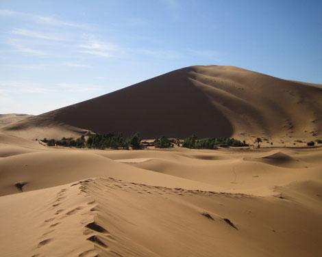 Düne im Erg Chebbi, Offroad-Reise Marokko