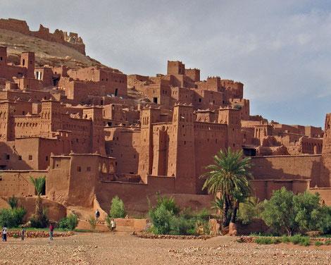 Marokko, Kasbah Ait ben Haddou, Filmkulisse erreichbar Offroad