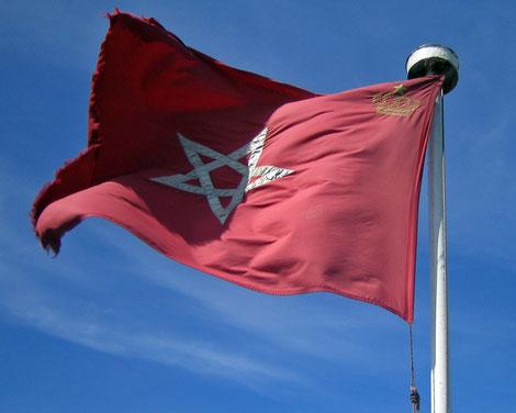 Marokko Flagge, Offroad durch Marokko mit Teambuctou