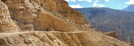 Biken in Mustang mit Himalaya Biketours