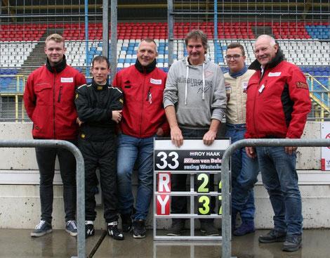 David, Youri, Robert, Claus, Roy en Willem.