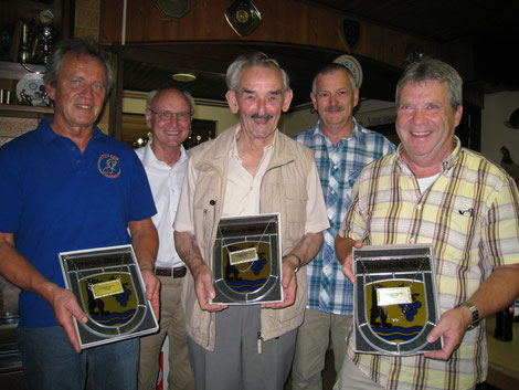 v.l.n.r. René Duhamel, Heinz Schwarz, Willi Nester, Hans-Peter Löffler, Bruno Martin