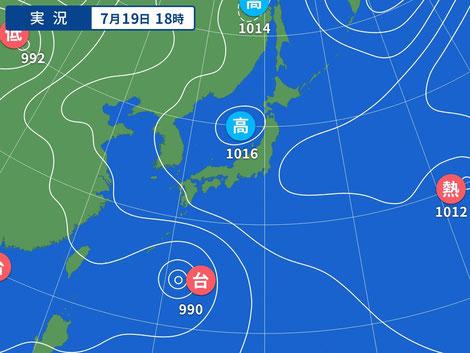 20210719 Yahoo!天気図より