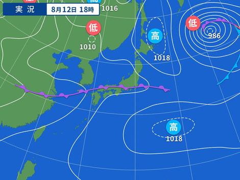 20210812 Yahoo!天気図より