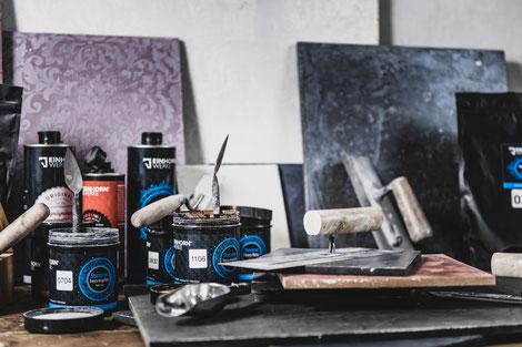 Wandgestaltung, Fugenlos, Marmorputz