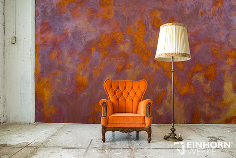 Pandorra Rostspachtel, rostige Wand, wandgestaltung rost, echtrost wand