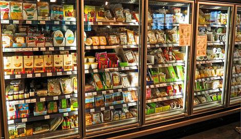 Kühlanlage im Supermarkt