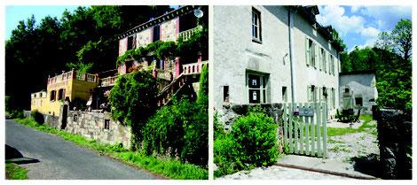 A gauche : ateliers Robin et André Fialip -  A droite : atelier Pépite de lave de Rose Desmaisons