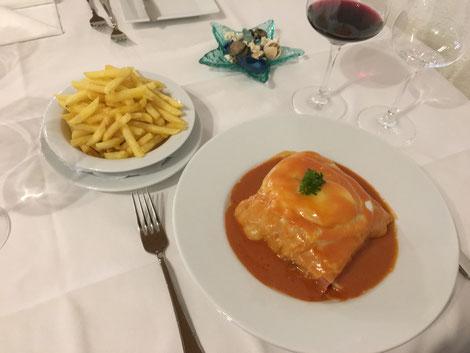 Francesinha Portugiesische Küche Spezialitäten restaurante portugues
