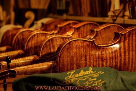 LAUBACH Stringed instruments: violin, viola