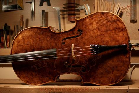 LAUBACH master cello and cello bows.