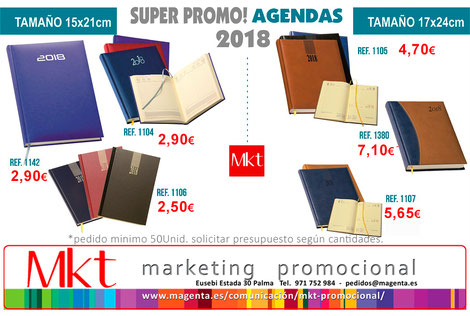 Agendas personalizadas publicidad 2018