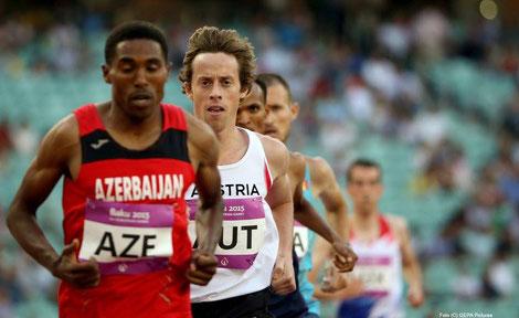 Brenton Rowe bei der Team EM 2015 in Baku im österreichischen Dress (Foto: GEPA)