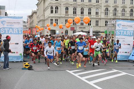 Salzburg-Marathon; Start 2017 (Foto: Veranstalter)