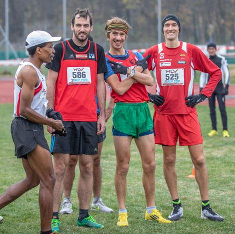 Vor dem Start zur Männer-Langstrecke: Philipp Meixner, Martin Mistelbauer und Andreas Vojta, der ca. 15 Minuten zuvor schon die Kurzstrecke gewonnen hatte.