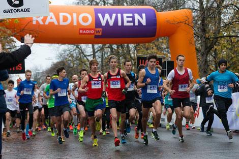 Timon Theuer und Martin Mistelbauer in der Mitte des Startfeldes beim Er & Sie Lauf (Foto: Veranstalter)