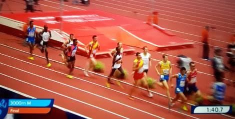 Andreas Vojta im Finale der Hallen EM in Belgrad über 3000m
