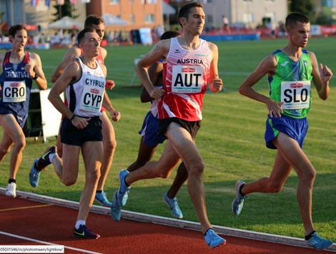 Andreas Vojta beim 5000m Rennen heute in Kroatien, Foto:  (c) ÖLV