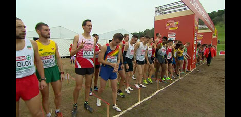 Andreas zuversichtlich vor dem Start (screenshot der Live-Übertragung)
