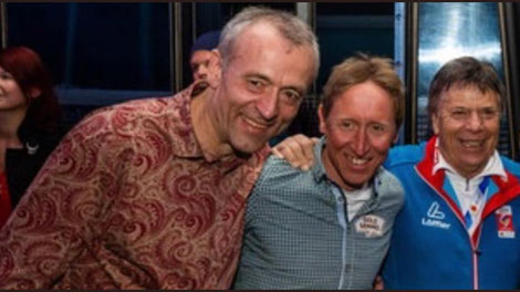 """Schröcksnadel: """"Null Toleranz!"""", """"Ich will diese Typen nie wieder sehen!"""" - und feiert ausgelassen mit den erwischten Dopern Botwinov und Hoffmann. Hoffmann wurde zudem letzte Woche für die Schibergsteig-WM nominiert und ist Funktionär in OÖ."""