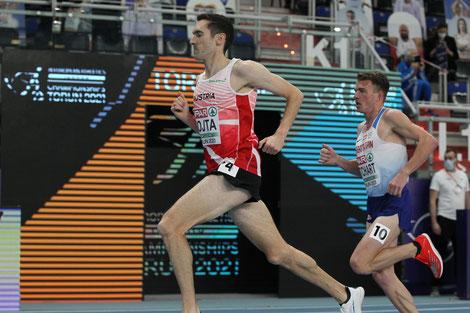 Andreas Vojta führte fast 2000m im Vorlauf das Feld an - die Tempoarbeit wurde aber nicht belohnt (Foto: (c) ÖLV. Durant)
