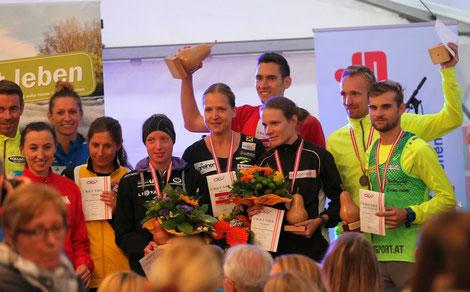 Siegerehrung der Österreichischen Meisterschaft
