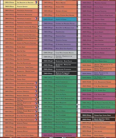 Kartenliste Crossed Souls (CROS)