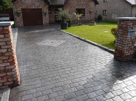 Empres de pavimento con hormigón impreso y pulido Vizcaya