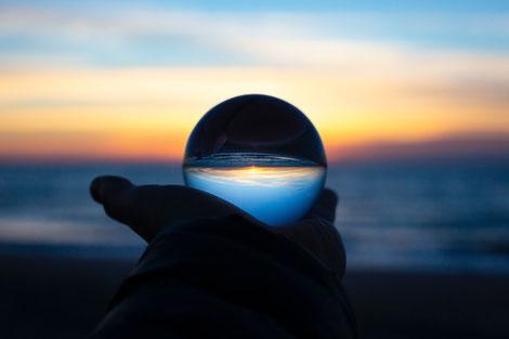 Zukunft, neue Welt, Lebensgestaltung, Glaskugel
