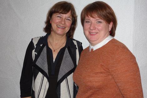 Andrea Raible-Kardinal (Pflegedienstleiterin) und Katharina Pinto (Stellvertreterin)